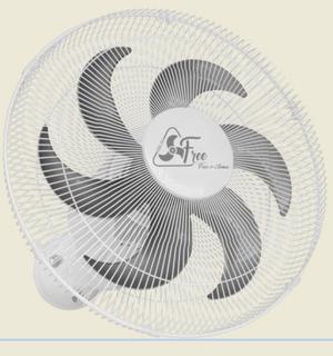 Ventilador de Parede Oscilante Aço 40 cm Bivolt