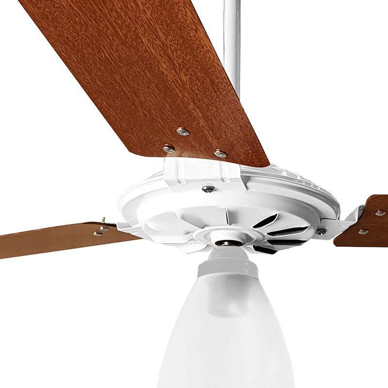 Ventilador de Teto Br/Mg Com Globo Aberto Pás de MDF 110 V