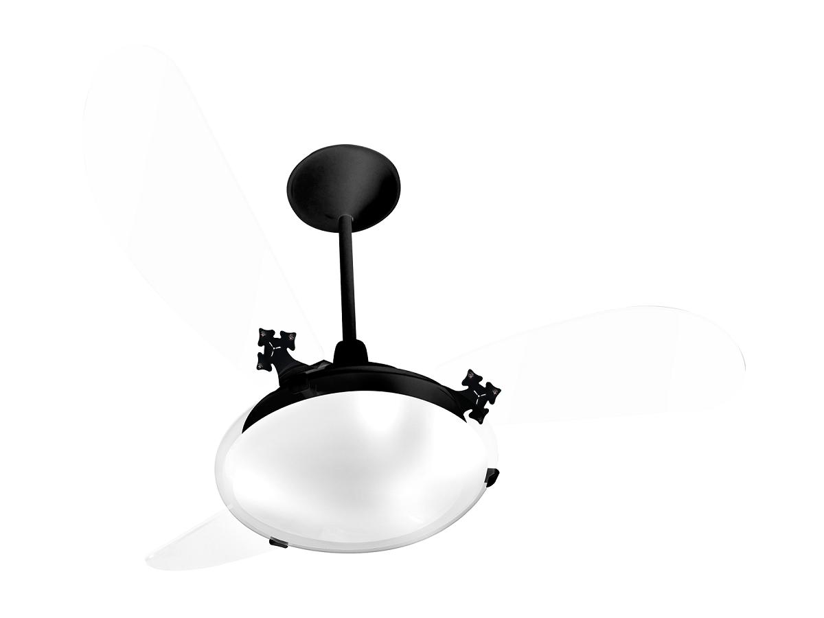Ventilador de Teto Delta Slim 3 Pás Pr/Tr 110V+Controle Rem.