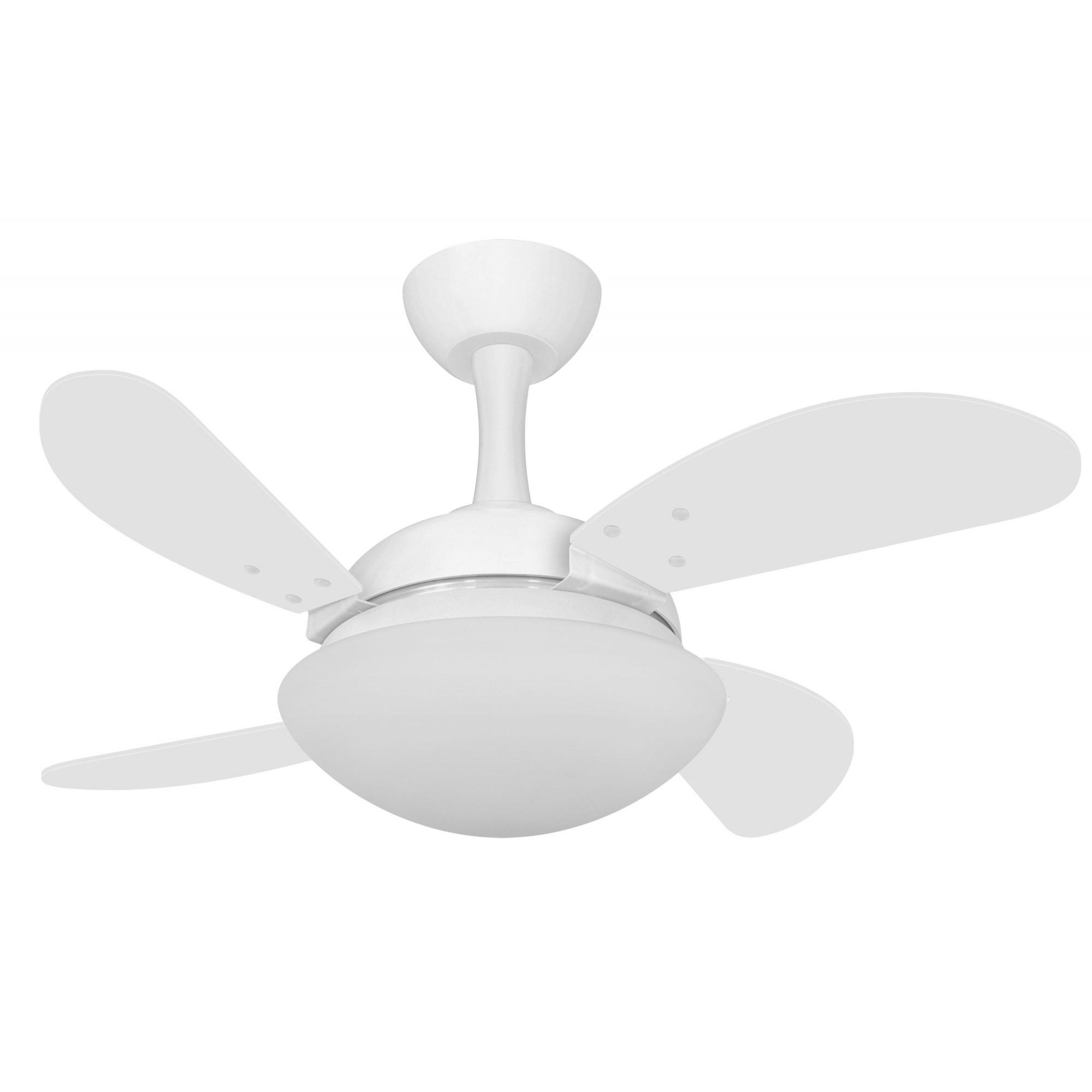 Ventilador de Teto Due Mini Fly Branco 4 Pás de MDF 110V