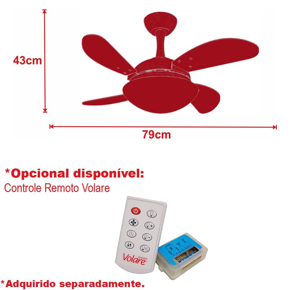Ventilador de Teto Due Mini Fly Branco 4Pás 110V+Controle R.
