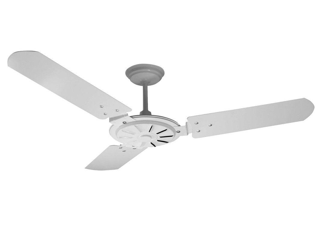 Ventilador de Teto Econômico Branco Pás de Mdf Comercial 110V