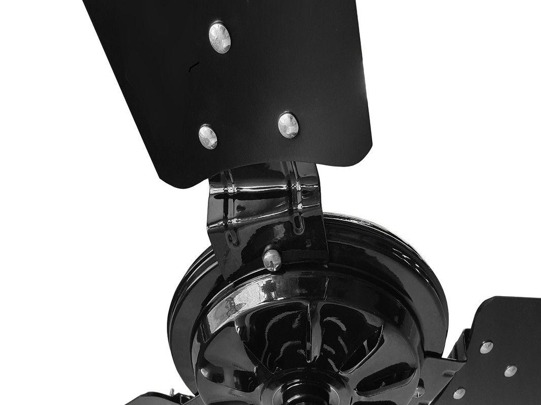 Ventilador de Teto Econômico Preto Pás de Mdf Comercial 220V