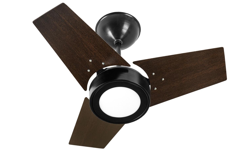 Ventilador de Teto FIT LED Venti-Delta Preto/Tb 110V+Controle