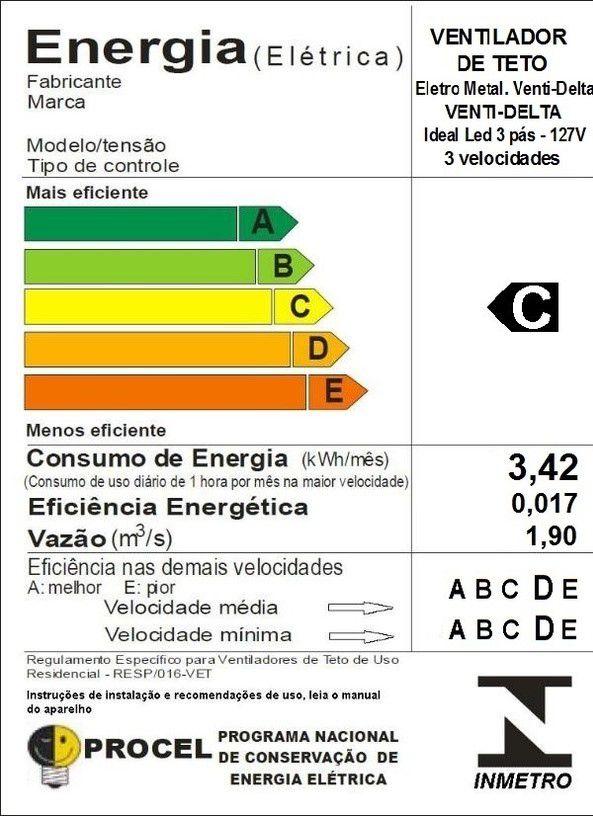 Ventilador de Teto Ideal Led Branco Pás de MDF 110V+Controle