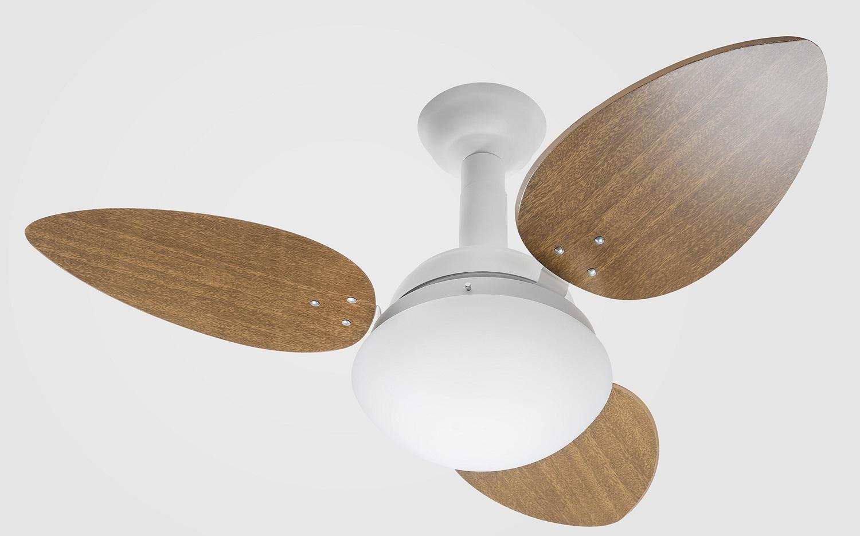 Ventilador de Teto Jet Venti-delta Branco 3Pás Mogno 220 V