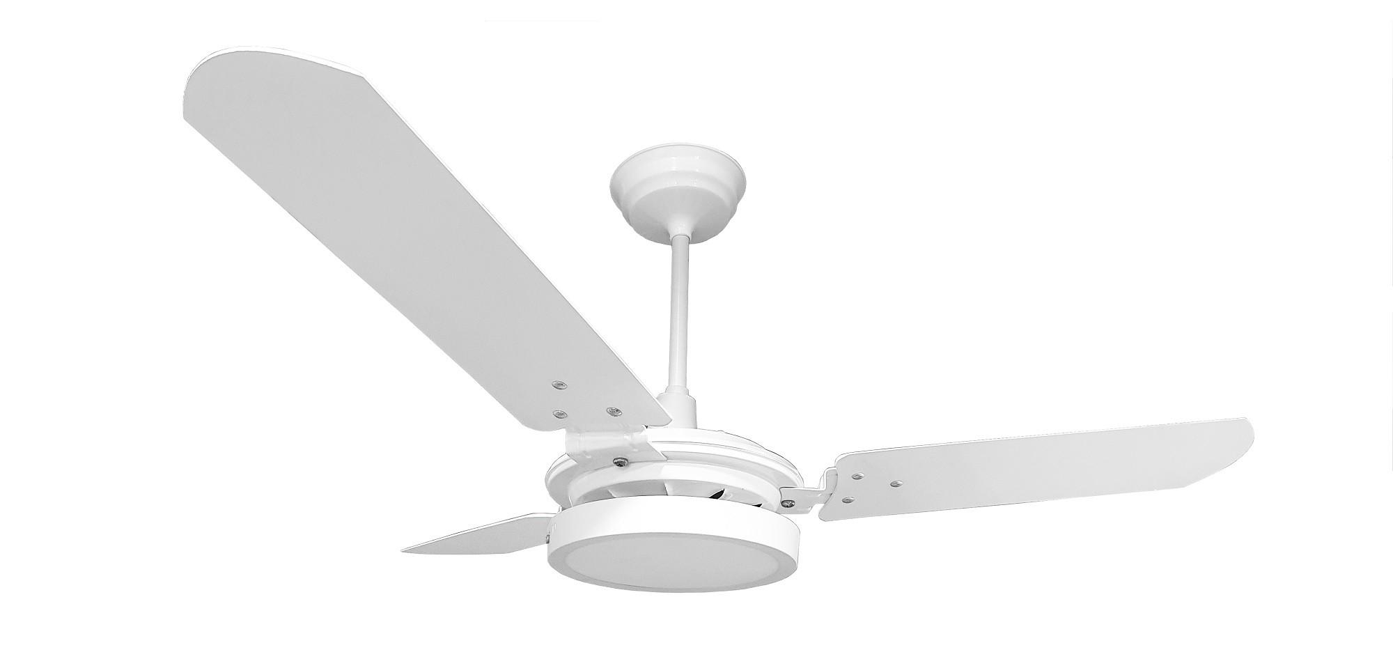Ventilador de Teto Valen LED Branco Com 3 Pás de MDF 110 V