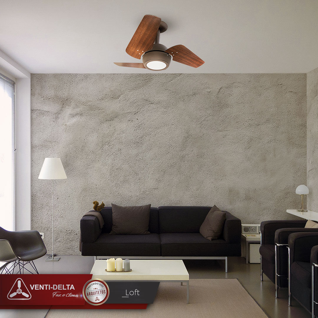 Ventilador de Teto Loft Led Branco 4 Pás Brancas 220 V+Controle