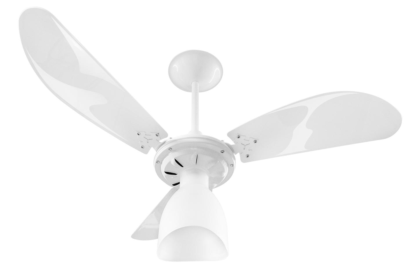 Ventilador de Teto New Cristal Light Branco 220V+Controle R.