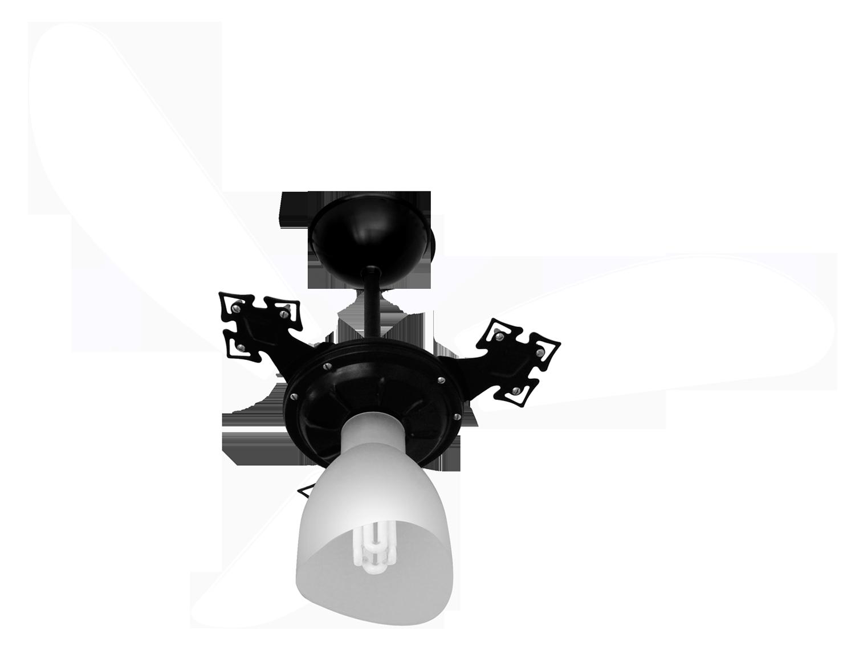 Ventilador de Teto New Cristal Light Pr/Tr 110V+Controle R.