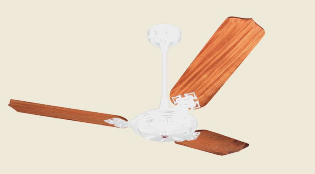 Ventilador De Teto New Delta Max 3 Pás De Mdf Laqueadas Branco 110V
