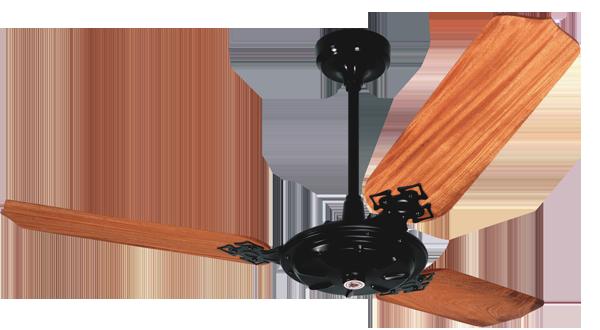 Ventilador de Teto New Delta Max 3 Pás de MDF Mogno