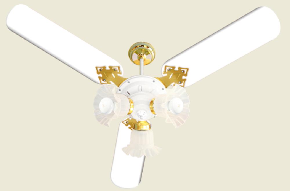 Ventilador De Teto New Zeta 3 Pás De Mdf Laqueadas Branco 220V