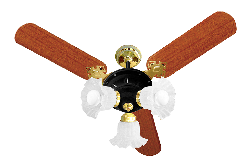 Ventilador De Teto New Zeta 3 Pás Pr/Mg 110V+Controle Remoto