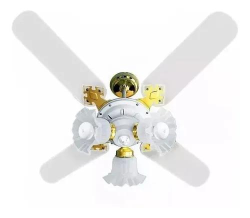 Ventilador De Teto New Zeta 4 Pás Branco 220v+Controle Rem.