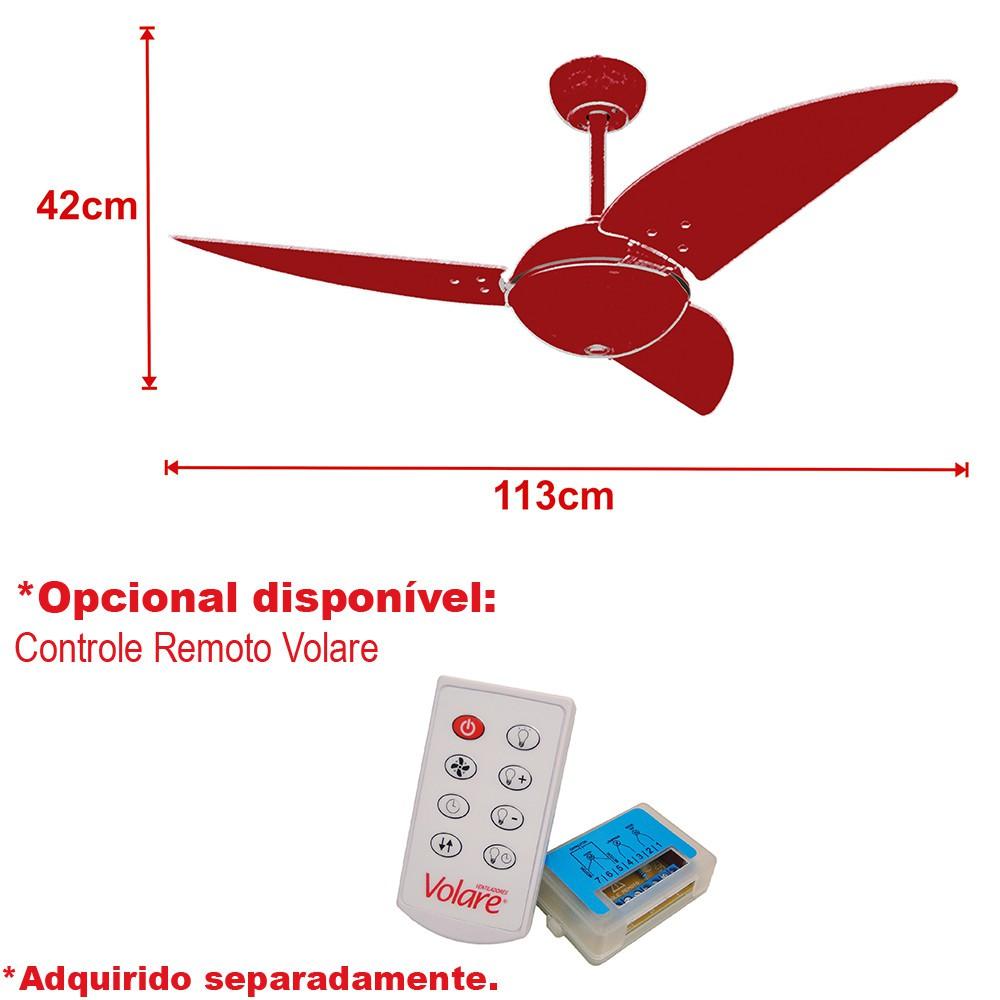 Ventilador de Teto Office Class Branco 110V+Controle remoto