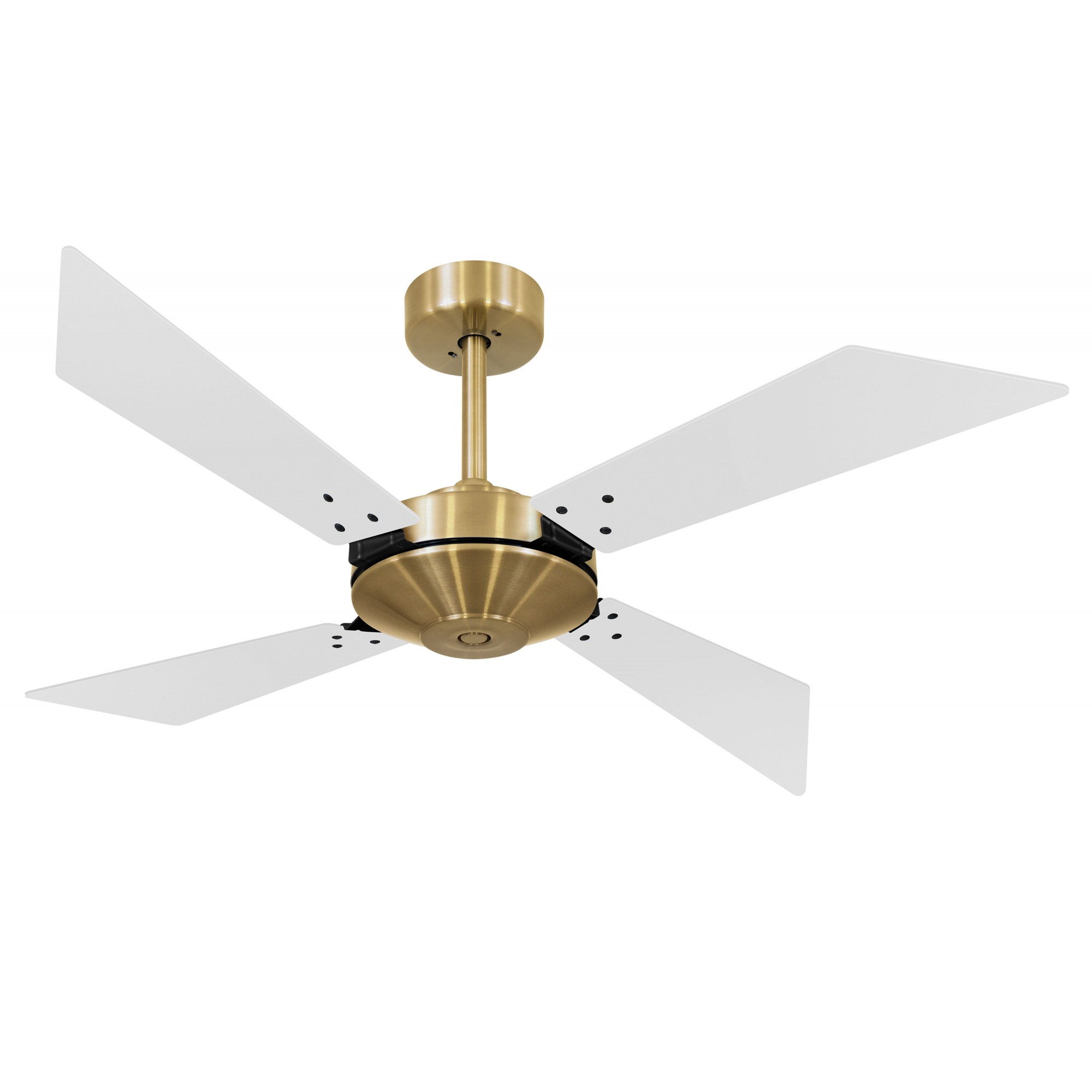 Ventilador de Teto Office Tech Dourado 4 Pás MDF Branco 110V