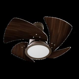 Ventilador de Teto Tornado LED 4 Pás de MDF Tabaco