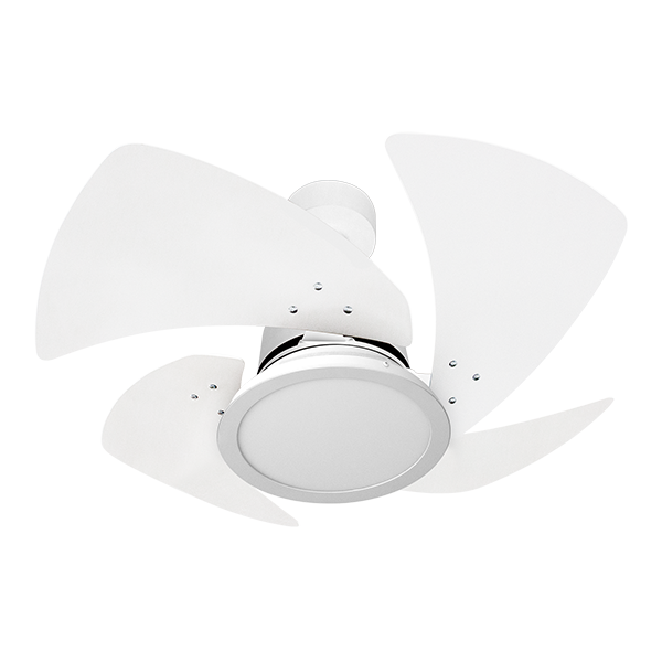 Ventilador de Teto Tornado LED 4 Pás Branco 110V