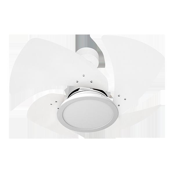 Ventilador de Teto Tornado LED 4 Pás Branco 110V+Controle R.
