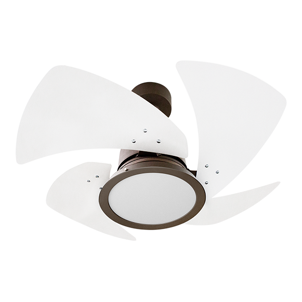 Ventilador de Teto Tornado LED 4 Pás Marrom/Bco 110V