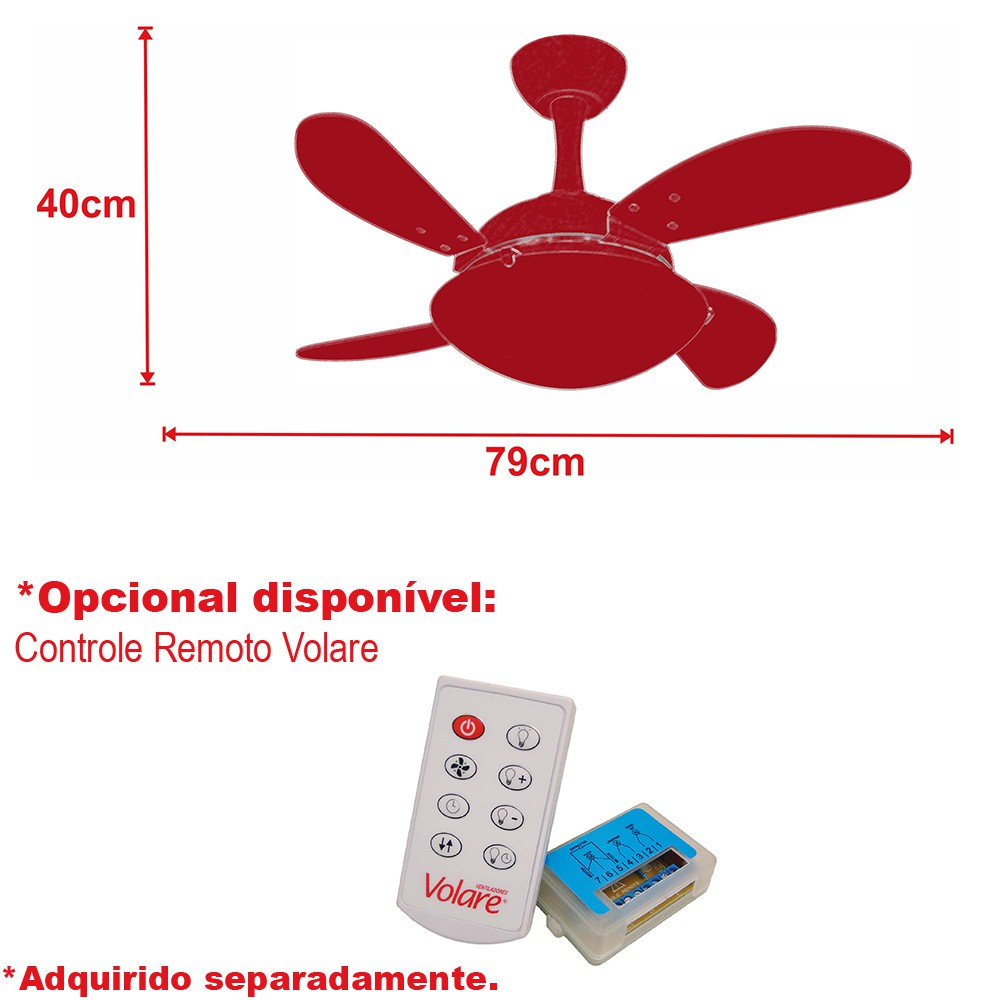 Ventilador de Teto Uno Mini Fly Branco 4 Pás de MDF 220V