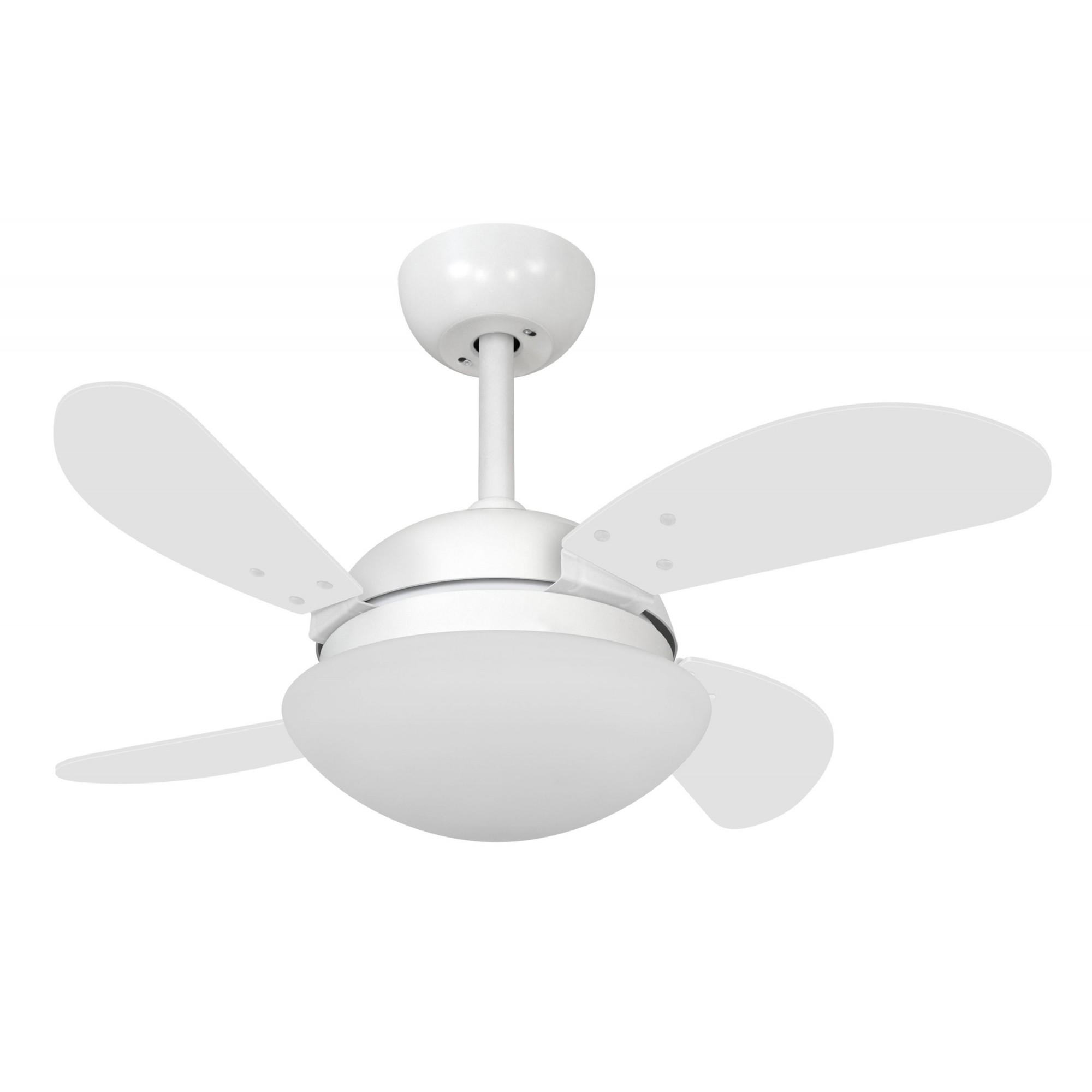 Ventilador de Teto VD28 Mini Fly Branco 4Pás MDF 220V