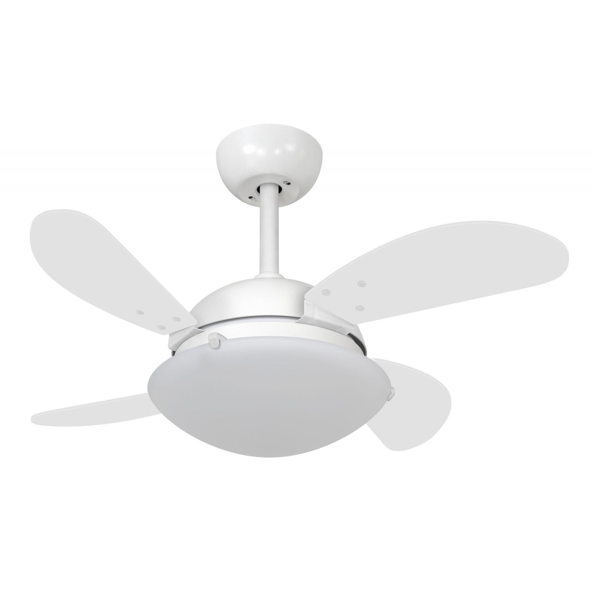 Ventilador de Teto VD300 Mini Fly Branco 4Pás MDF 220V
