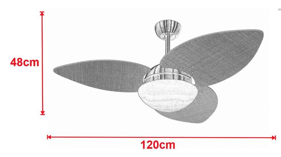 Ventilador De Teto VD42 Dunamis Bronze 3Pás MDF Branco 220V