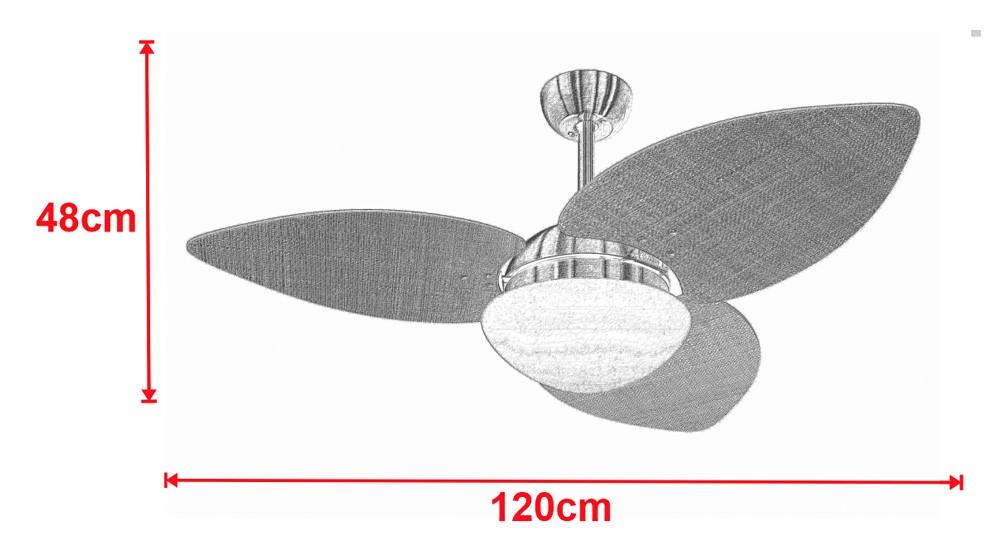 Ventilador De Teto VD42 Dunamis Bronze 3Pás Rádica Imbuia 220V+Controle