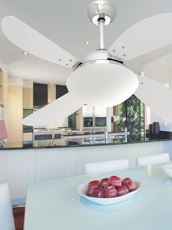 Ventilador de Teto VD42 Fly Cromo/Br 110V+Controle Remoto