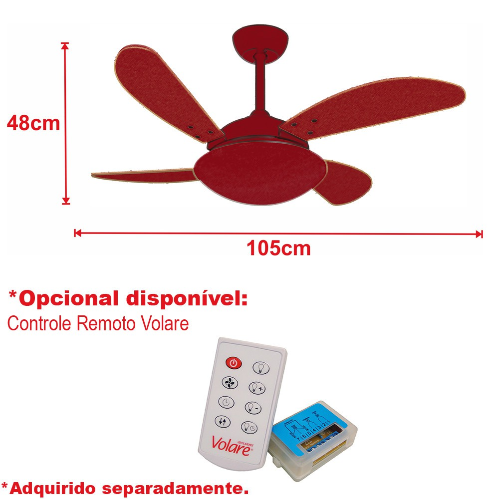 Ventilador de Teto VD42 Fly Cromo/Br 220V+Controle Remoto