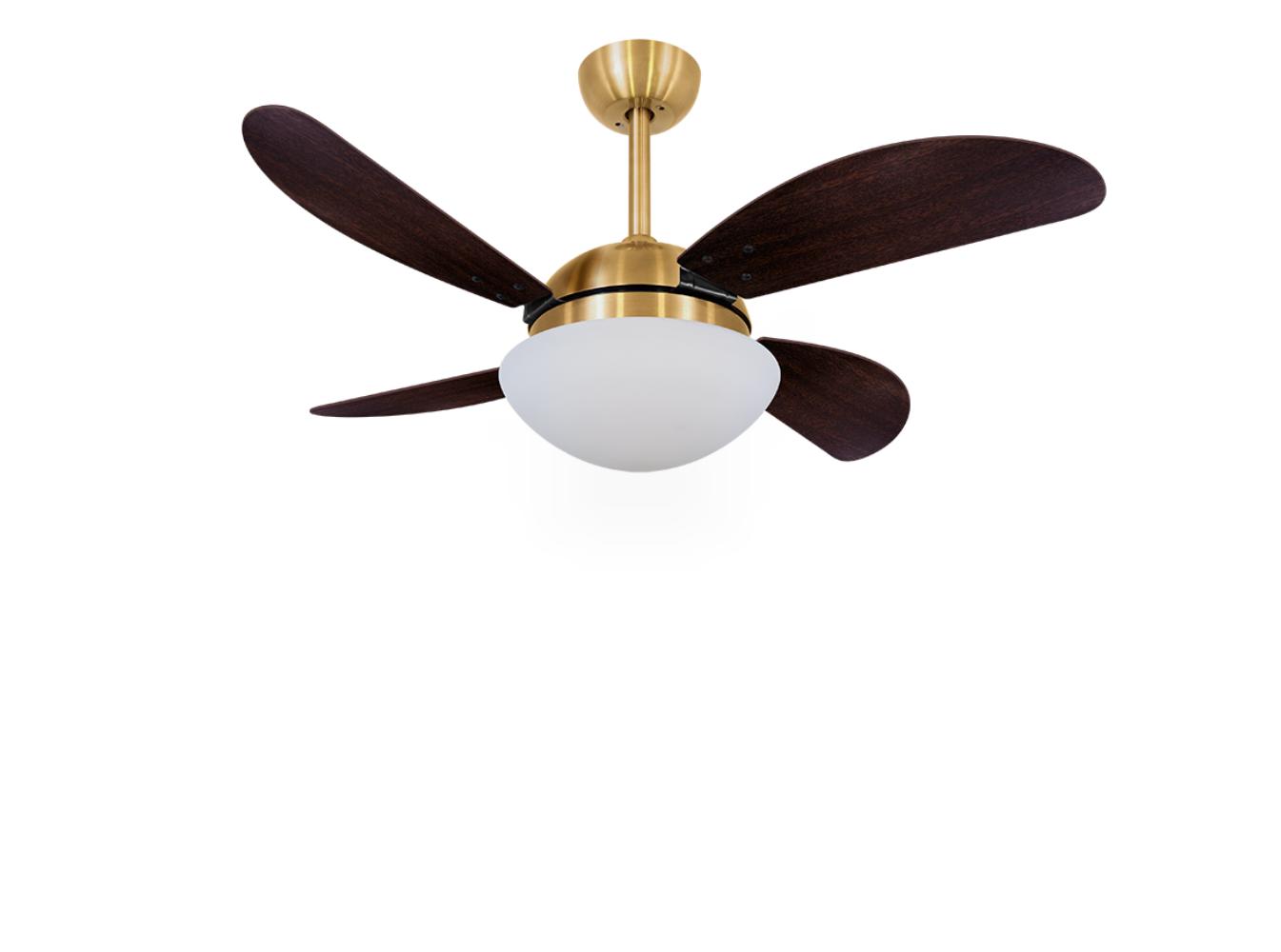 Ventilador de Teto VD42 Fly Dourado/Tb 220V+Controle Remoto
