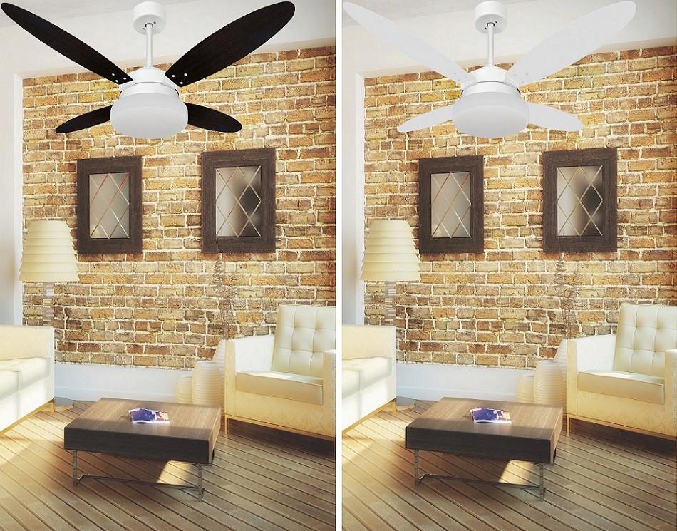 Ventilador de Teto VD50 Lanai Branco 4Pás MDF Br-Tb 110V