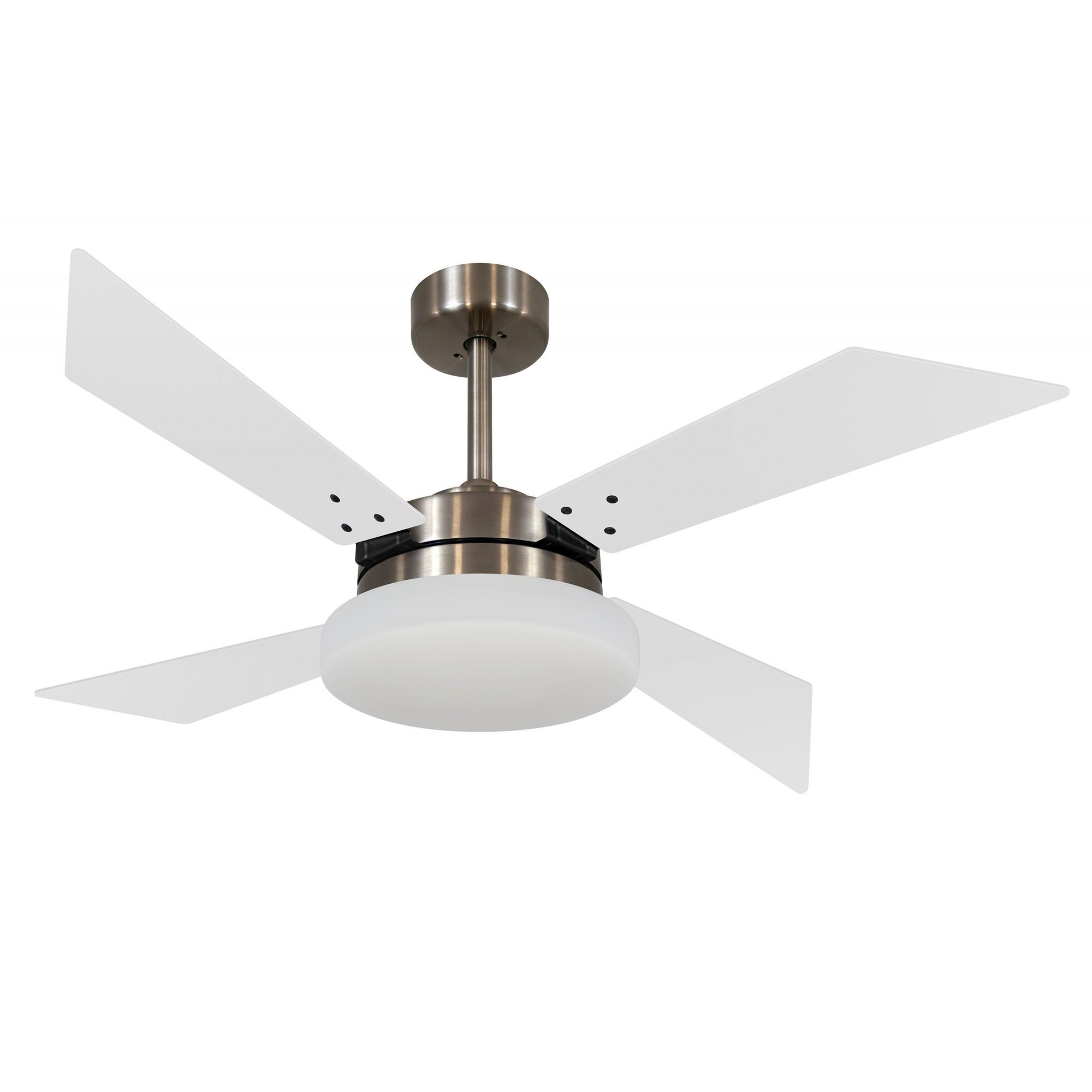 Ventilador de Teto VD50 Tech Bronze 4 Pás MDF Branco 220V