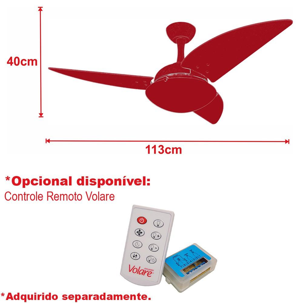 Ventilador de Teto Ventax Uno Branco 3Pás de Plastico 220V