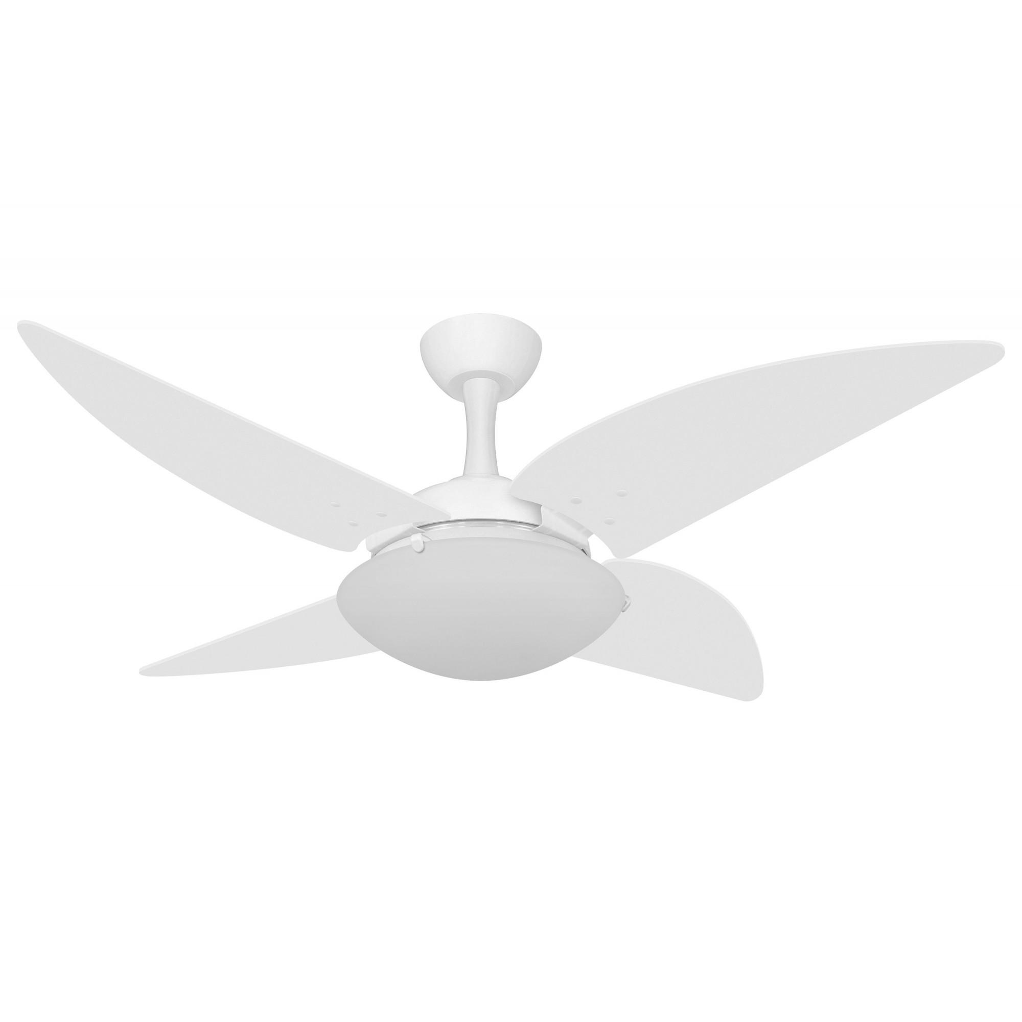 Ventilador de Teto Ventax Uno Branco 4 Pás de Plastico 110V