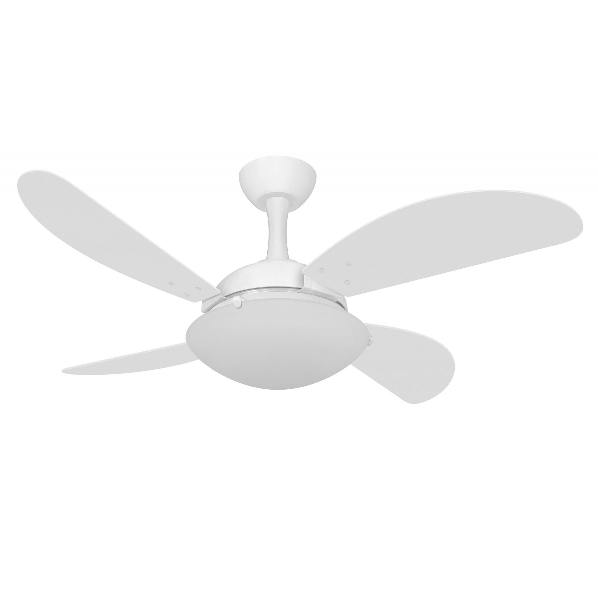 Ventilador de Teto Ventax Uno Fly Branco 4 Pás de MDF 110V