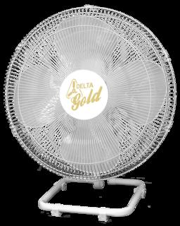 Ventilador De Mesa Gold 50 cm Bivolt Aço Branco Cromado 200 W
