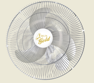 Ventilador de Parede Gold 60 cm Bivolt Aço Branco Cromado 200 W