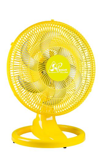 Ventilador  Oscilante Plástico 50 cm Bivolt 2 em 1 Amarelo