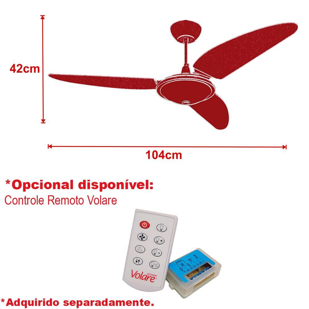 Ventilador Teto Ventax 10 Office Branco 110V+Controle Remoto