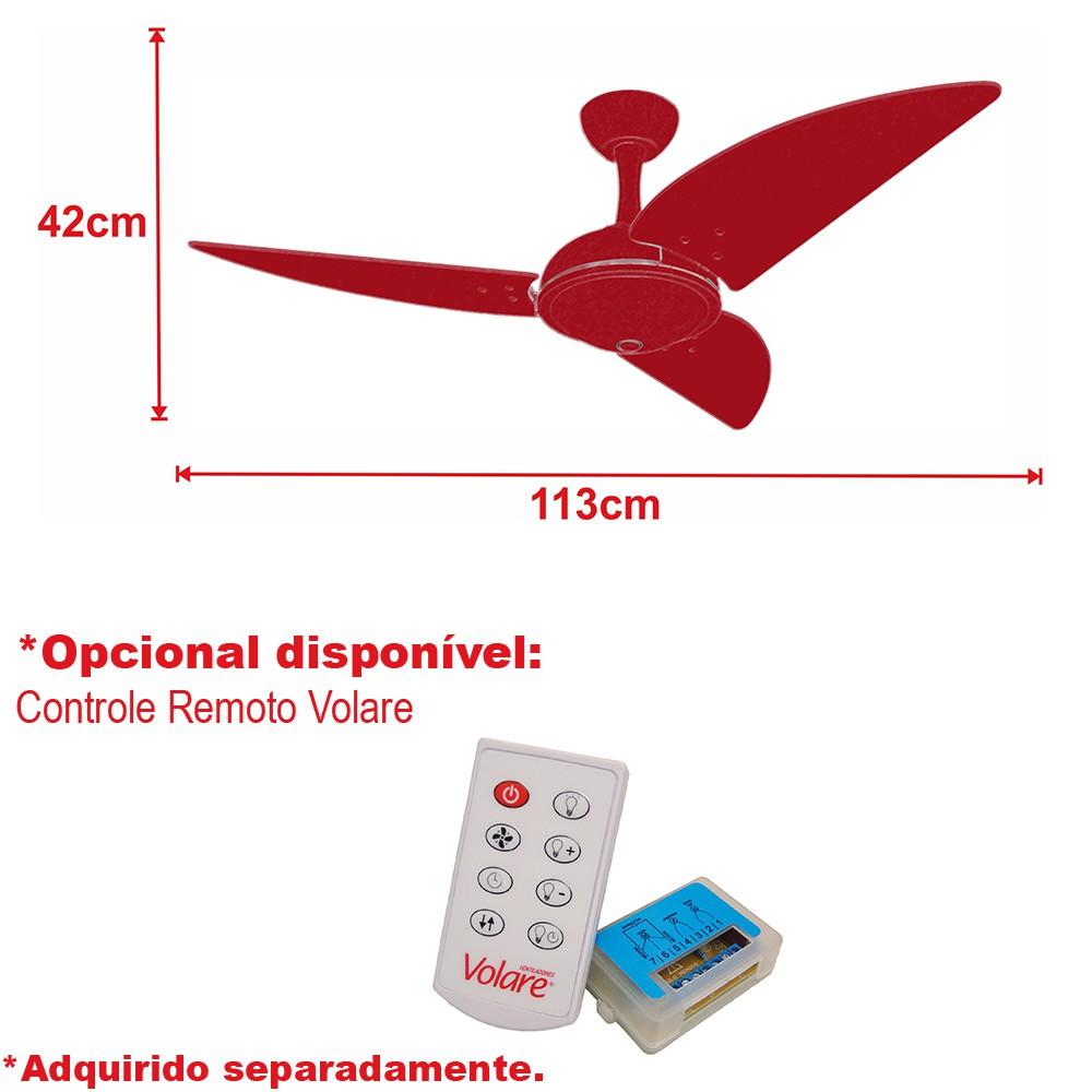 Ventilador Teto Ventax Office Branco 3Pás de Plastico 220V