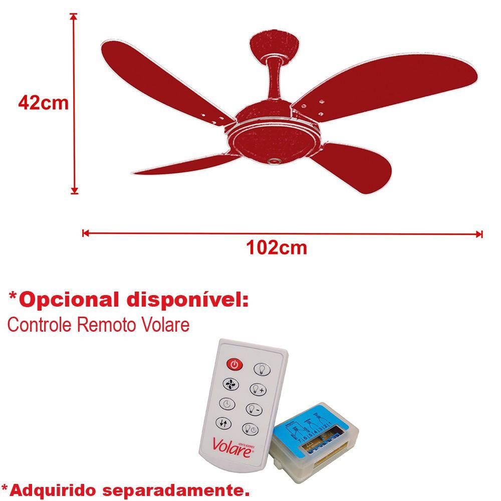 Ventilador Teto Ventax Office Fly Branco 4Pás MDF 110V