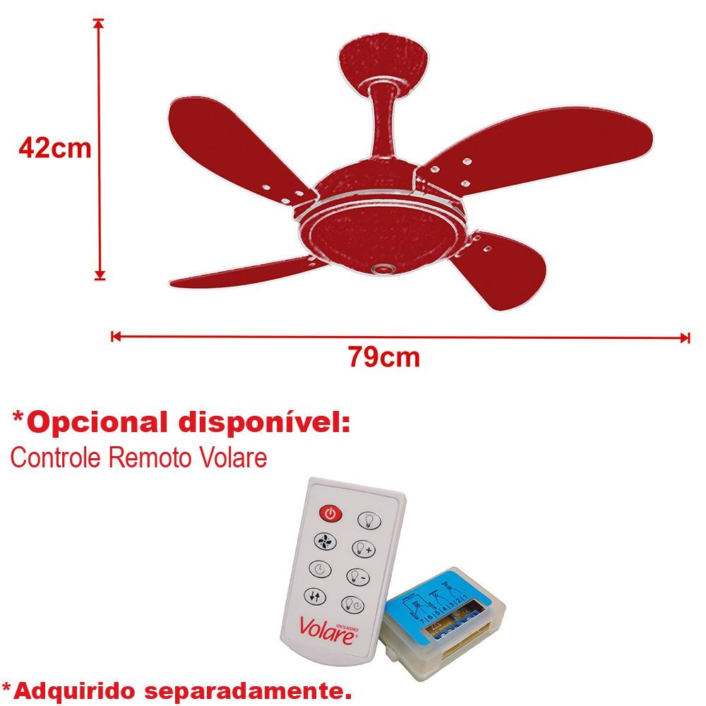 Ventilador Teto Ventax Office Mini Fly Branco 220V+Controle.