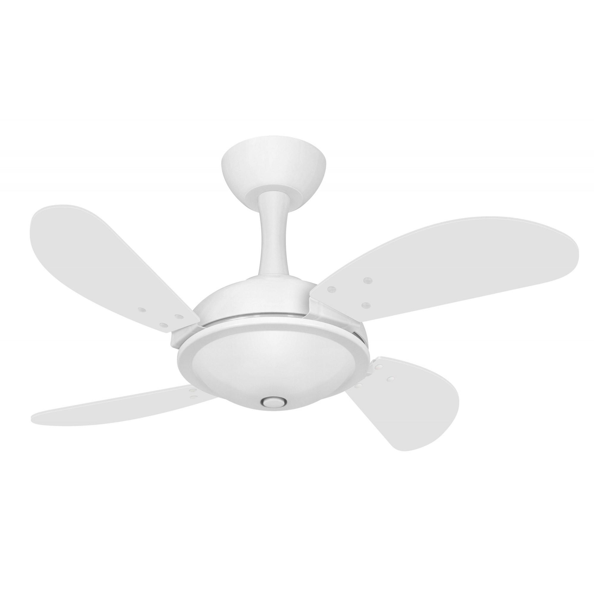 Ventilador Teto Ventax Office Mini Fly Branco 4Pás MDF 220V