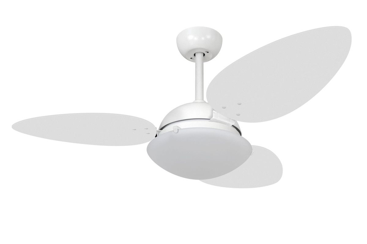 Ventilador Teto Volare Branco VD300 Pétalo UV 3 Pás Br 110V