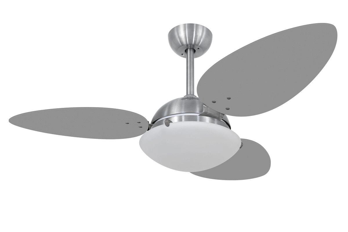Ventilador Teto Volare Prata VD300Pétalo UV 3pás Titânio 110V