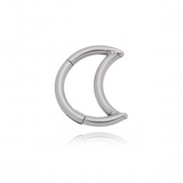 Piercing argola lua segmentada para o daith Aço cirúrgico 316L ou PDV gold