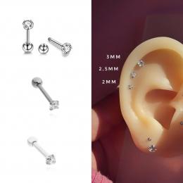 Trio de piercings ponto de luz degradê 3mm, 2,5mm e 2mm